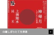 【店舗限定】 白瀧しぼりたて生原酒 第一弾 神帰月(純米吟醸酒)